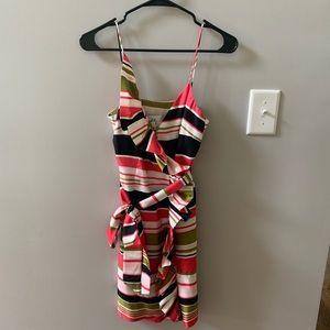 Milly Striped Wrap Dress